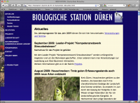 Screenshot Biologische Station Düren